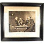 """GENREBILD """"BEIM KLOSTERBIER"""", bekanntes Werk v. Eduard Ritter v. Grützner (1846- 1925) von 1884,"""