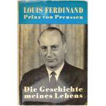 LOUIS FERDINAND PRINZ VON PREUSSEN, (1907-1994, Enkel Wilhelms II.), Tinten-OU auf Vorsatz seines