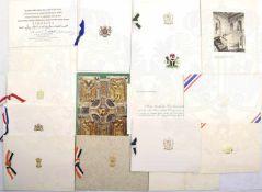 KONVOLUT DANKSAGUNGEN u. Glückwunschschreiben von Botschaftern, 30 Stück: Frankreich,