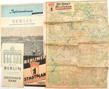 """5 TEILE BERLIN, Broschüre """"Berlin als Vergnügungsstadt"""", 1911, 56 S., gr. A4; 2 Stadtpläne, 1953, 1x"""