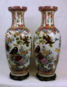 Paar grosse Chinesische VasenPorzellan Maße: ca. H 61 cm