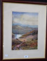 Lot 44 - Michael Crawley Kinder Reservoir, Derbyshire signed, watercolour,