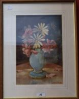 Lot 42 - Michael Crawley Fading Roses signed, watercolour, 20cm x 30.