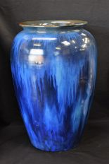 Lot 39 - A Bourne Denby Electric Blue vase, of large proportions,