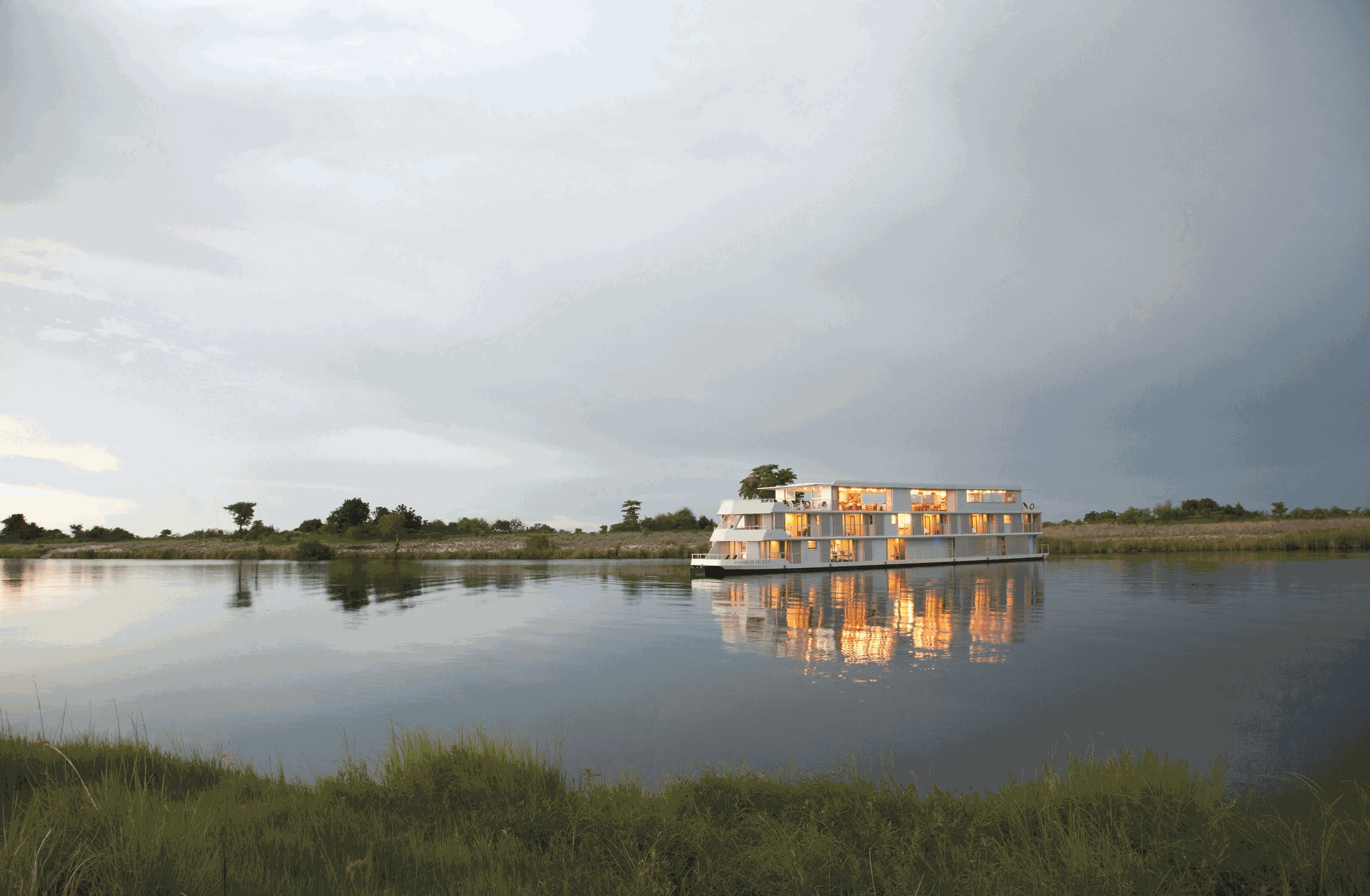Lot 39 - Zambezi Queen Collection Moving along the banks of the great Chobe River, Zambezi Queen is a 5-star,