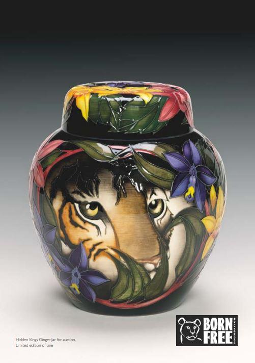 Lot 7 - Hidden Kings - Absolutely Fabulous A bespoke Moorcroft ovoid ginger jar and cover, Hidden Kings,