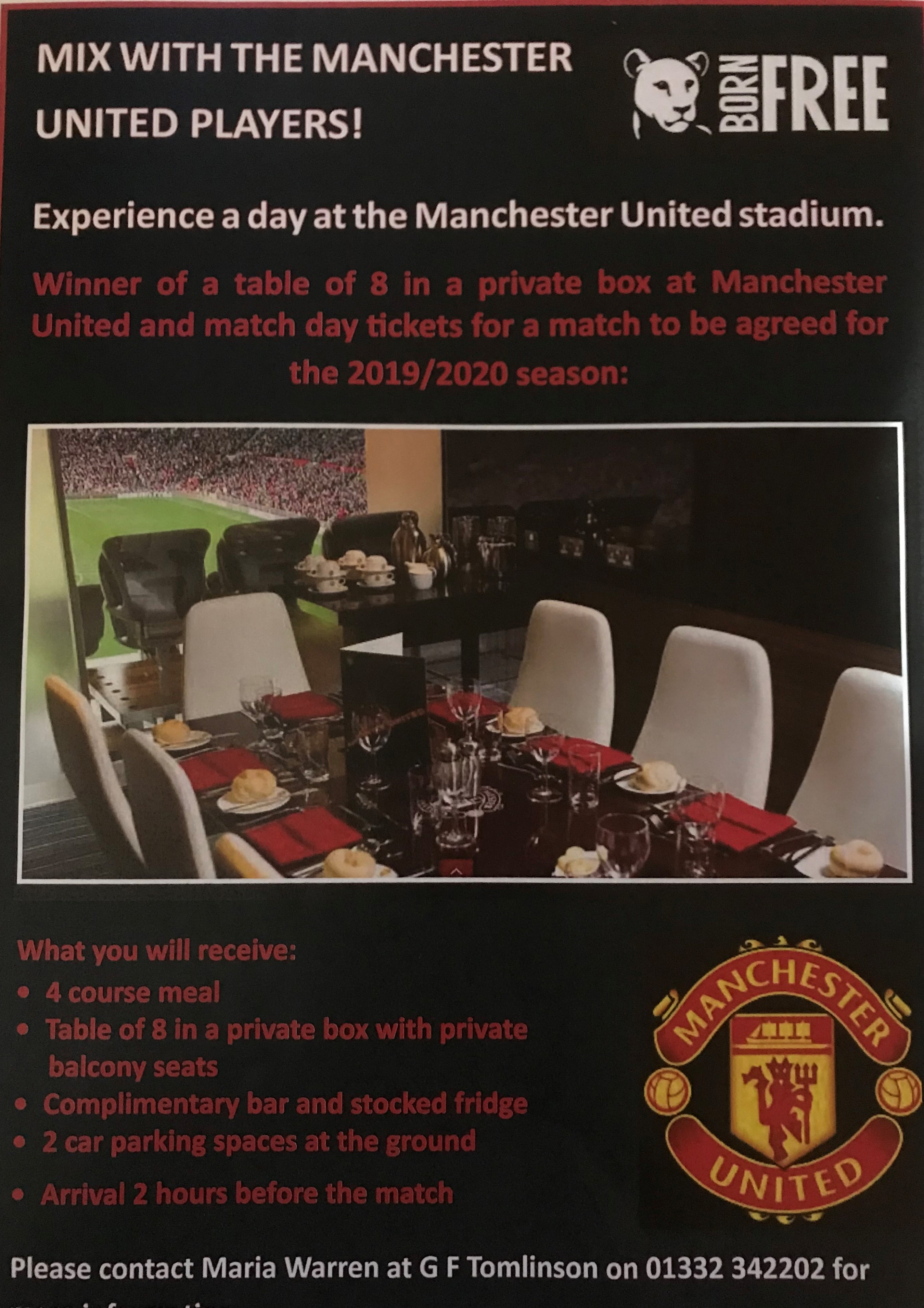 Lot 6 - A box for 8 at Old Trafford with Full Hospitality and Private Balcony Old Trafford,