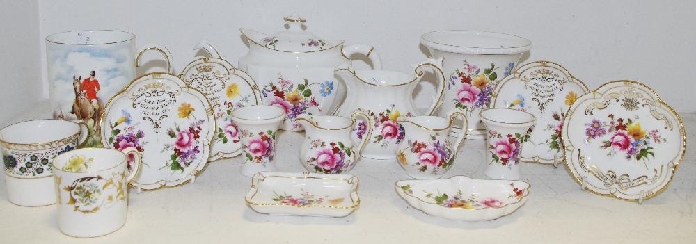 Lot 57 - Royal Crown Derby Posies tableware including teapot, milk jug, planter, bon bon dishes, etc,