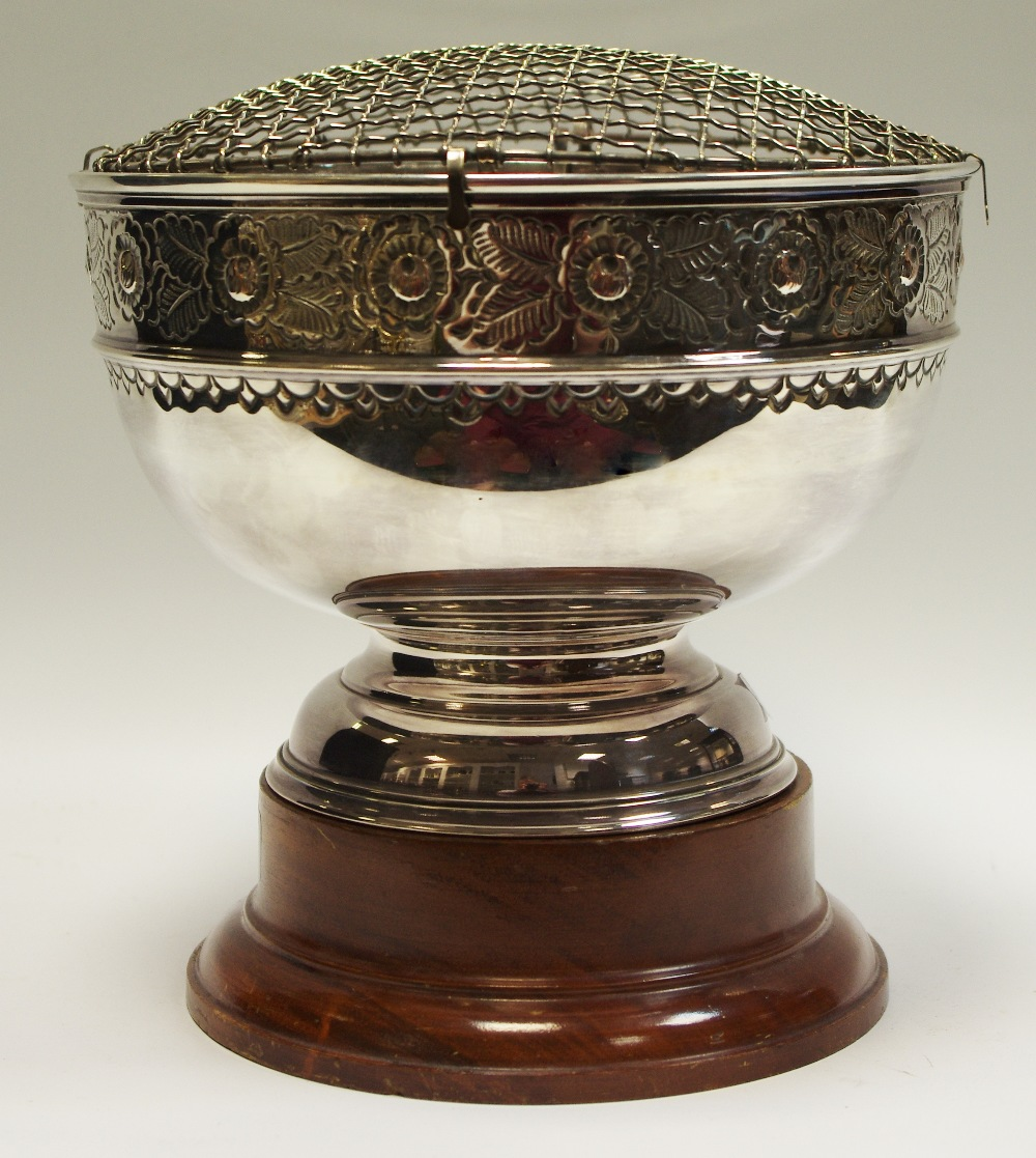 Lot 42 - An EPNS rose bowl,