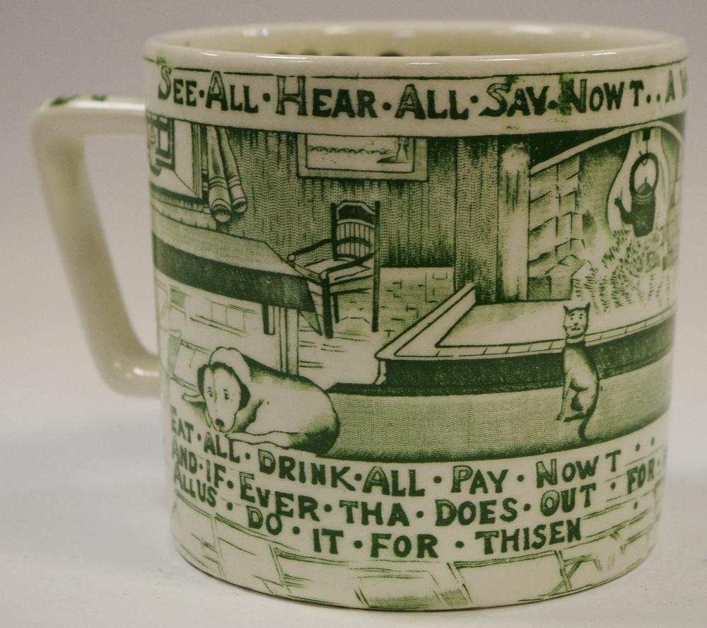 Lot 6 - An early 20th century Crown Devon large Staffordshire mottoware mug,