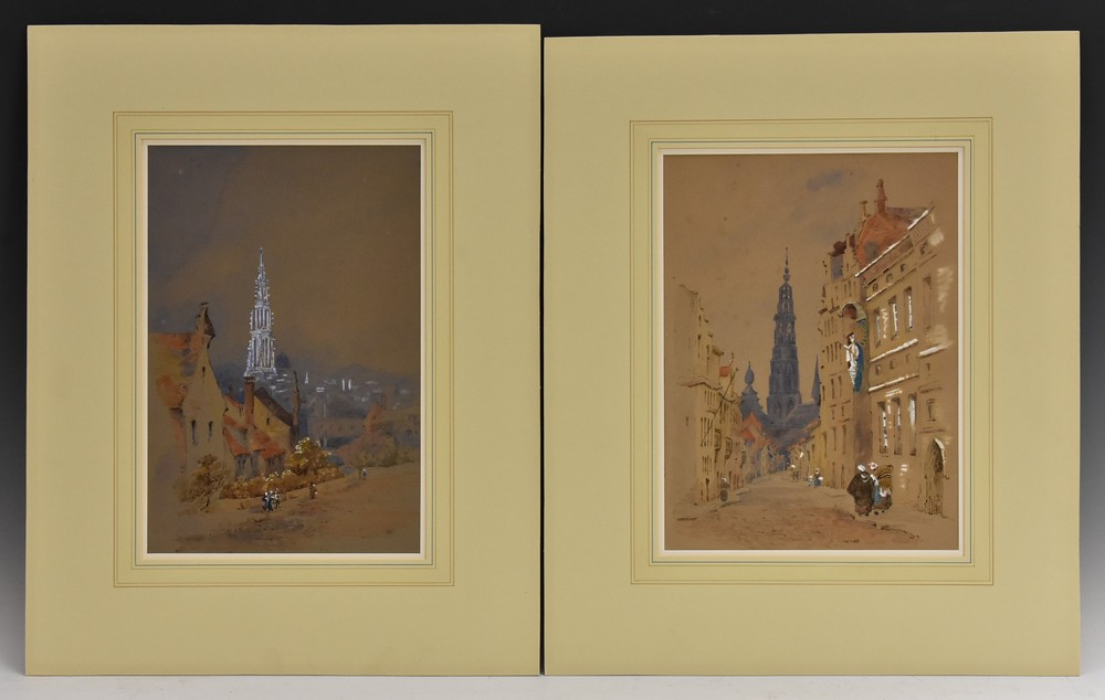 A Folio of Late 19th and 20th century watercolours, two in the manner of David Cox, unsigned, - Image 4 of 4