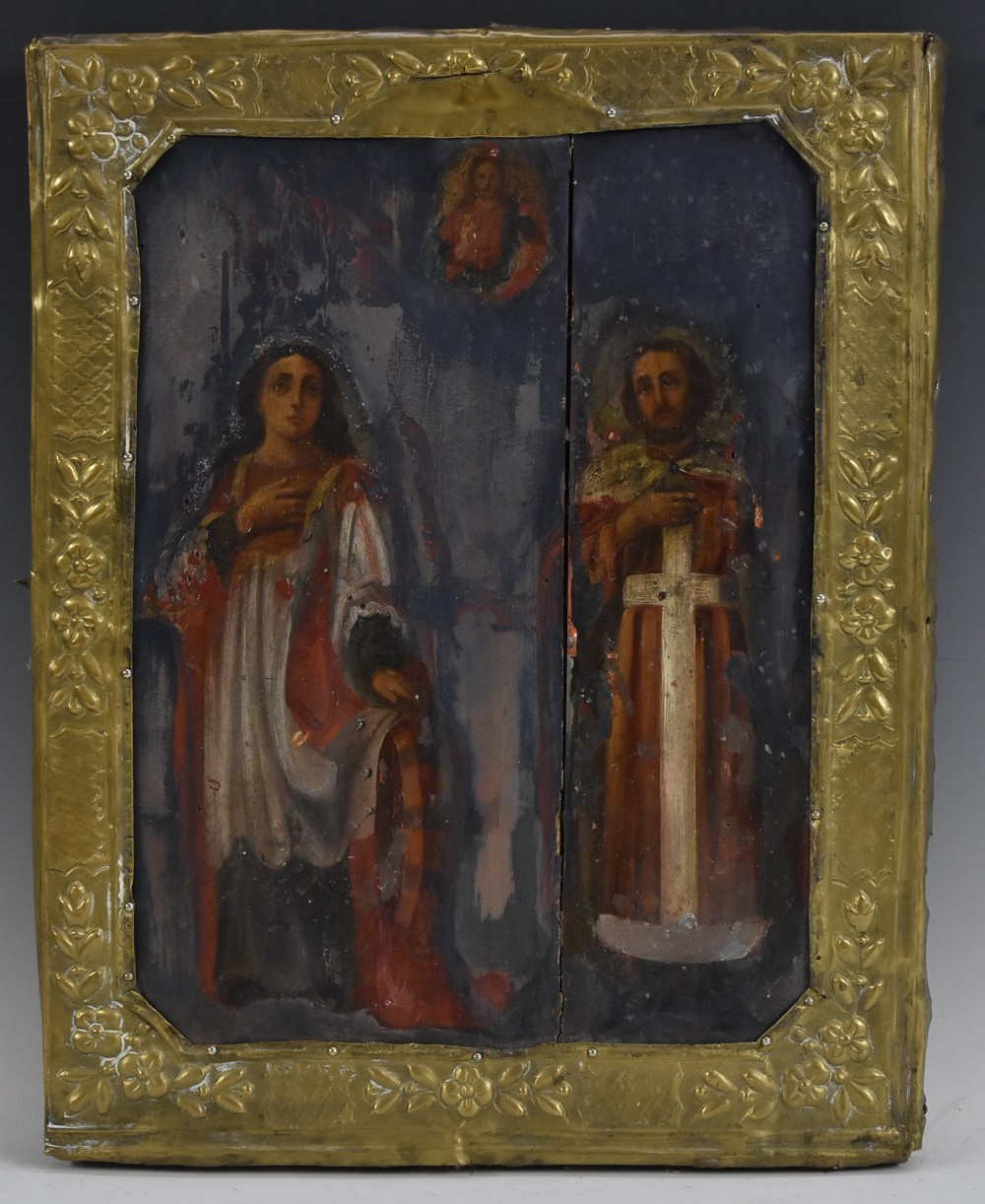 Lot 3044 - Continental School, 19th century, An Icon oil on panel,
