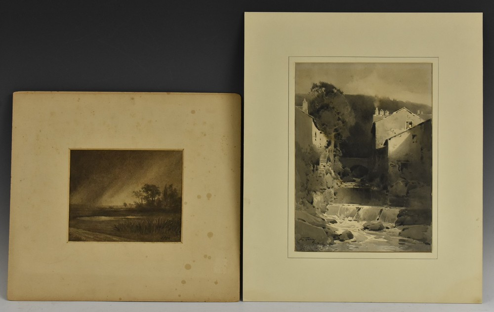 A Folio of Late 19th and 20th century watercolours, two in the manner of David Cox, unsigned, - Image 3 of 4