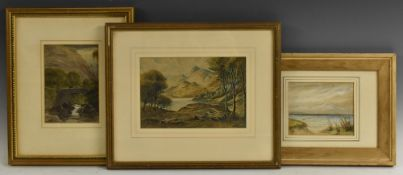 D. Falconer (Scottish School) The Highlands signed, dated '44, watercolour, 15.5cm x 22.
