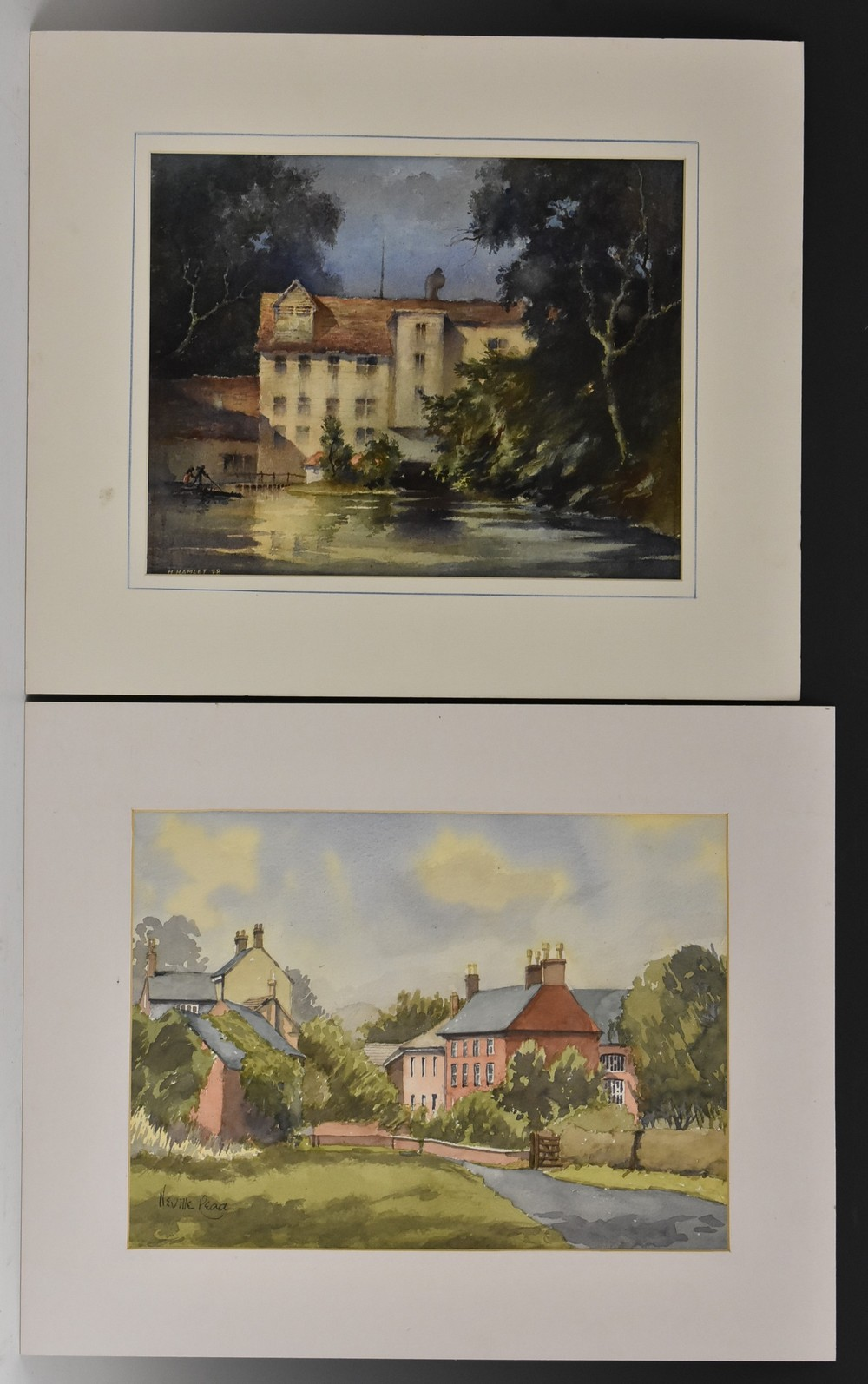 A Folio of Late 19th and 20th century watercolours, two in the manner of David Cox, unsigned, - Image 2 of 4
