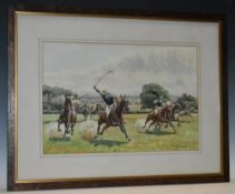 G Couper The Polo Match signed, dated '14, watercolour,