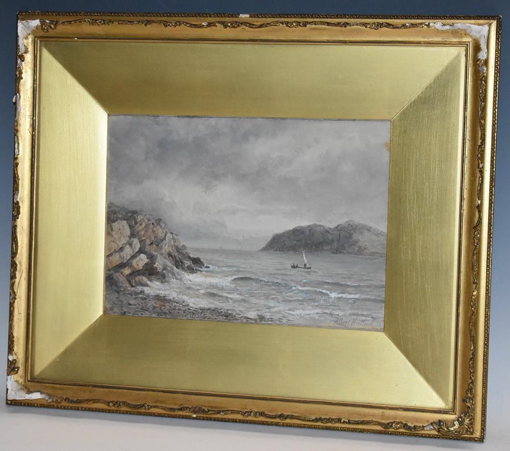 Albert Hartland (1840 - 1893) Setting Sail signed, dated '75, watercolour,