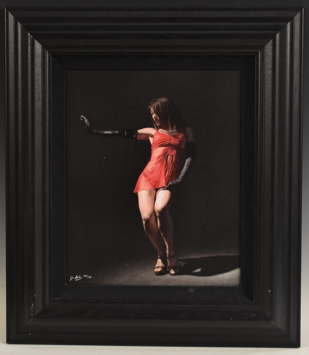Darren Baker, by and after, A Pair, Femme Fatale I and II, print on canvas, signed,