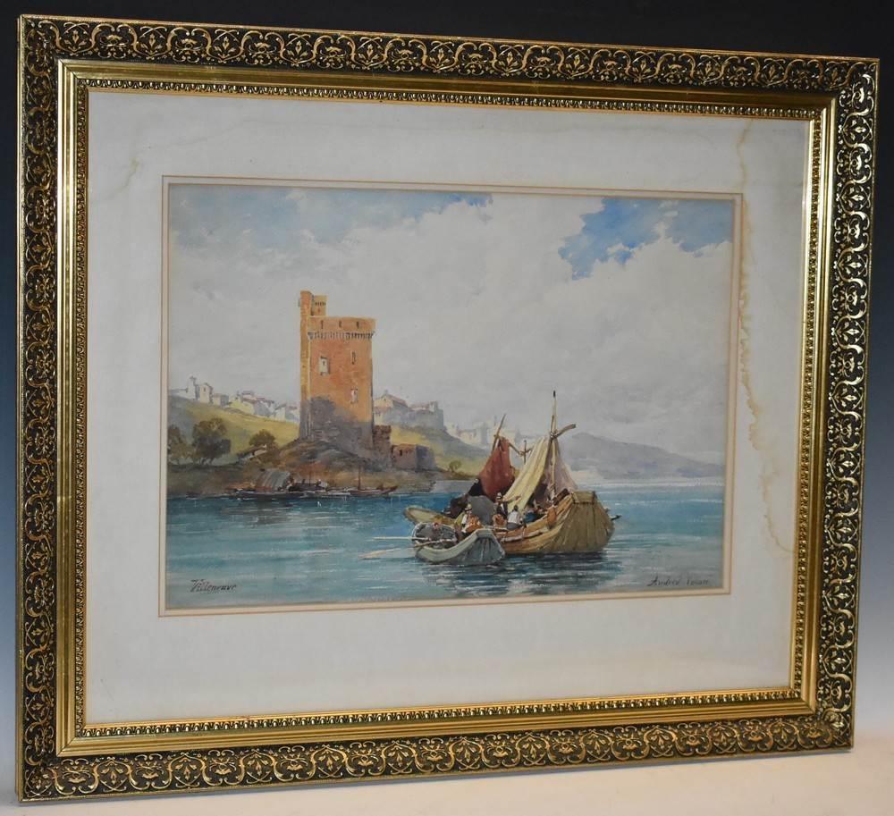 Andrea Vasari (1873 - 1961) Isola Bella signed and inscribed, watercolour, 37cm x 51cm; another, - Image 2 of 2