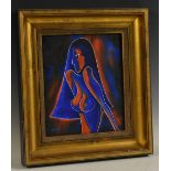 British School, Contemporary, Austin Samson, Nude Study, Red and Blue, No.