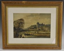 English School, 19th century, The Fort, signed with monogram to bottom left, watercolour,