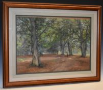 Frank Saltfleet (1860 - 1937) The Beech Wood Avenue signed, watercolour,