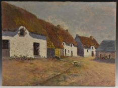 Georges Ney (French School, early 20th century) Rural Cottages signed, oil on canvas,