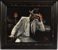 Fabian Perez, by and after, Man in White Suit V, hand embellished giclee print, signed, 79/195,