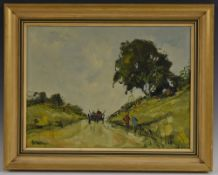 George Deakins (1911 - 1981) On the Road to Donegal signed, oil on board, 30.5cm x 40.