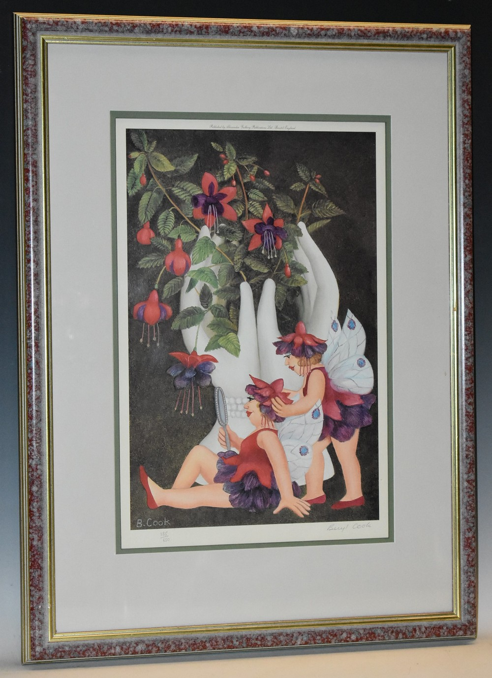 Beryl Cook (1926-2008) Fuchsia Fairies, coloured print, signed in pencil, limited edition 185/650,