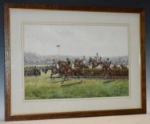 G Couper Past and Present Steeplechase Sandown Park 1911 signed, dated 1912,