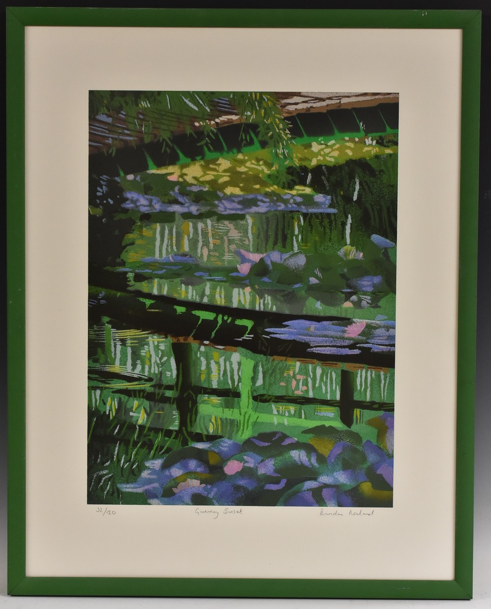 Brendan Newland, by and after, Giverny Sunset, signed, titled, and numbered in pencil to margin,
