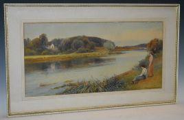 Frank Gresley (British, 1855 - 1936) Kings Newton signed, watercolour, 29.