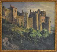 Alexander Bower (American 1875-1952) A castle in Southern France signed, oil on canvas, 91.