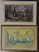 English School (20th Century) The Grave Yard W.A.