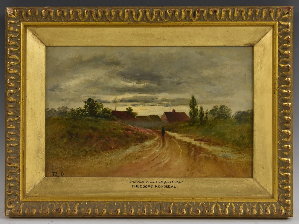 Lot 3020 - Attributed to Theodore Rousseau (1812 - 1867) The Path to the Village Vendee signed Th. R.
