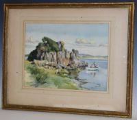 Francis E. Hiley Treasure Island signed, watercolour, 26.
