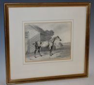 B Fenning (19th century) Portrait of a Horse, Goldfinch signed, inscribed and dated 1931,