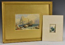 Birket Foster (1825 - 1899) The Rock of Gibraltar monogrammed FB, watercolour,