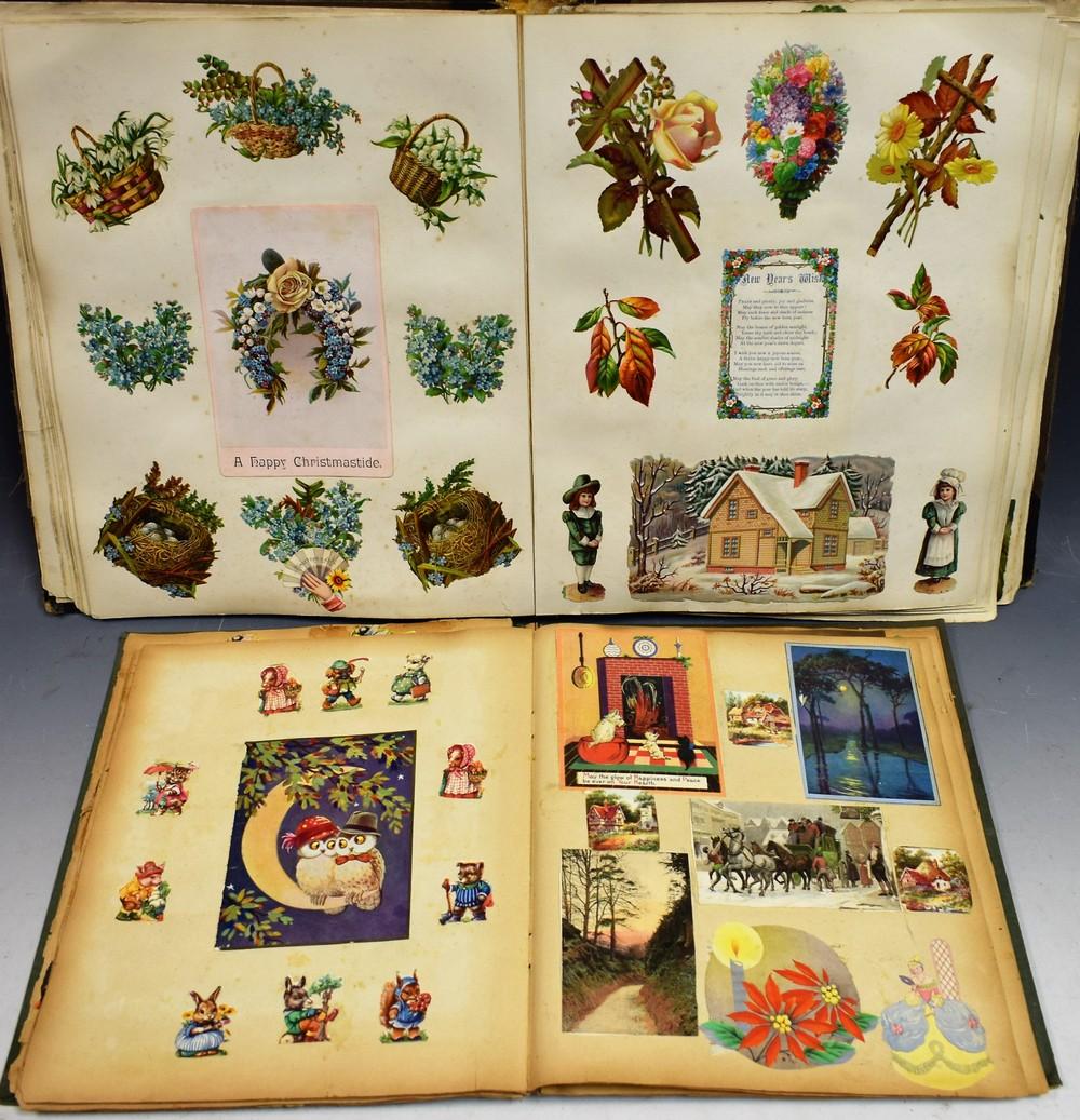 Lot 5050 - A Victorian scrapbook;