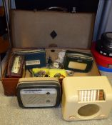 Vintage radios including Roberts R303 transistor radio, Roberts R200, etc; others, Defiant, Bush,