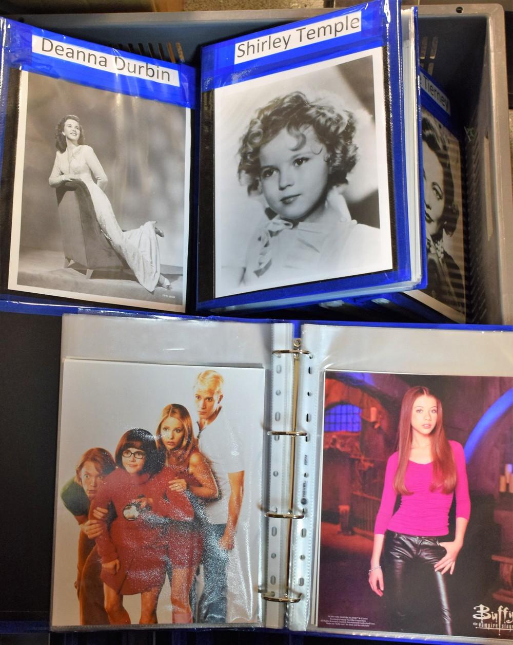 Lot 5054 - Hollywood Movie Stars - twenty albums of movie stills, mostly black and white, Deanna Durbin,