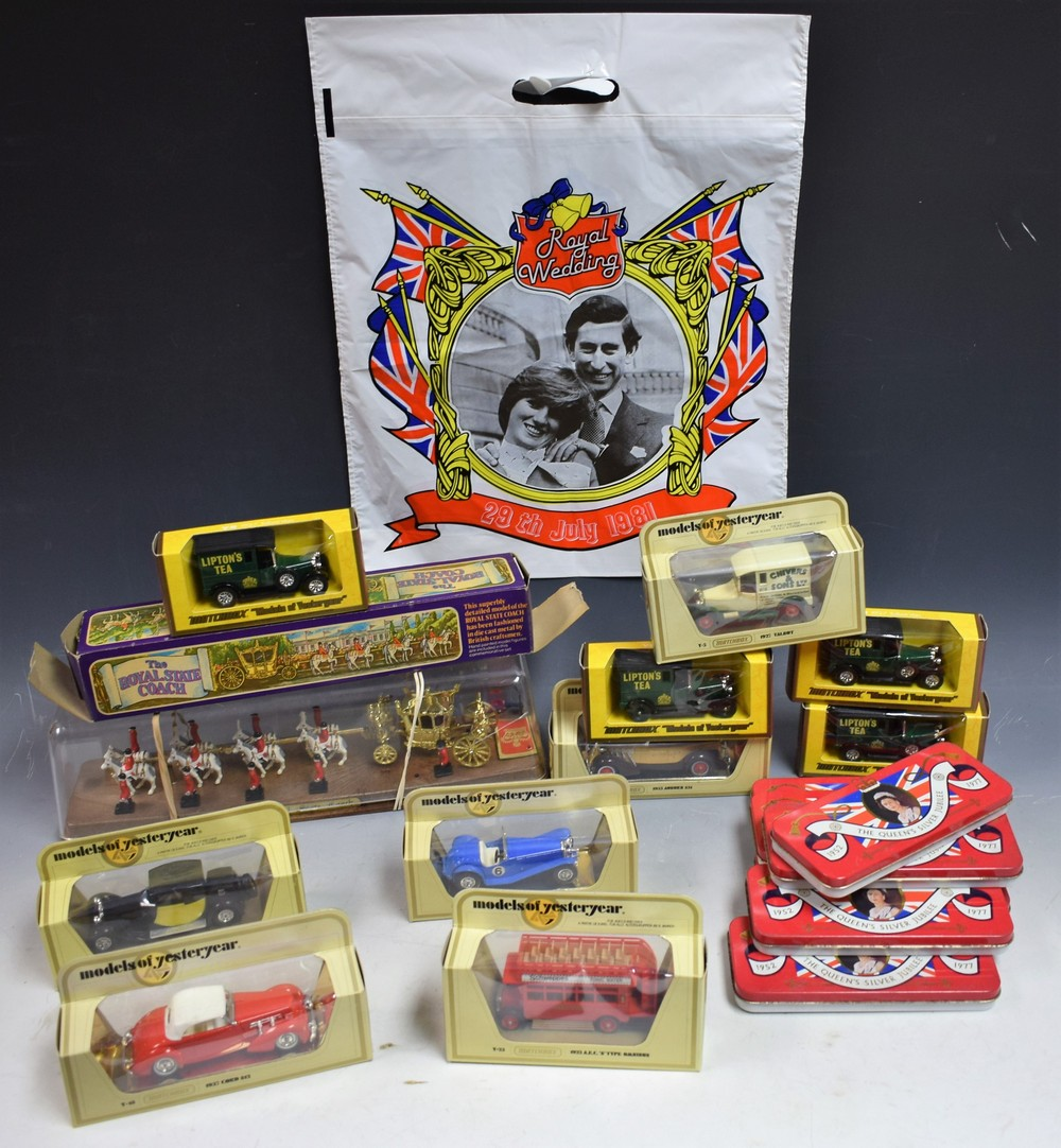 Lot 5033 - Die-cast Vehicles - Matchbox Models of Yesteryear, including Y3 10934 Riley MPH; Y-5 Talbot vans,
