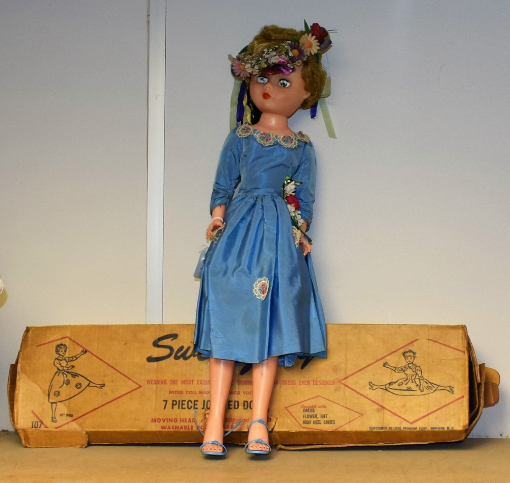 Lot 5003 - An American De luxe Premium Corps, Sweet Judy seven piece jointed miracle vinyl doll, moving head,