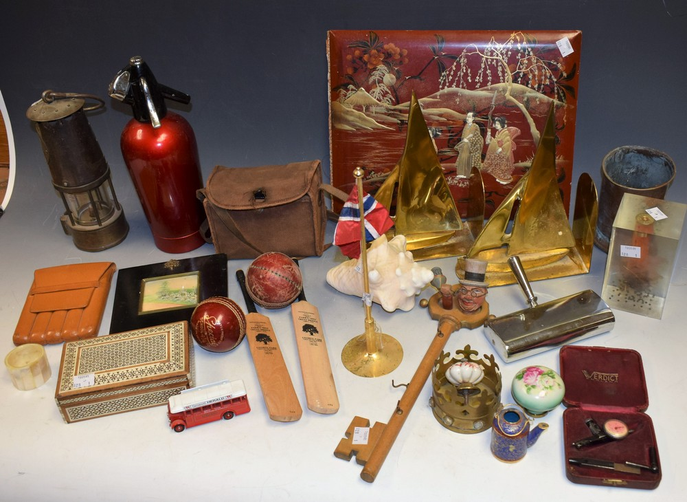 Lot 5029 - Boxes and Objects - an Eccles miner's lamp;