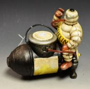 Advertising - a reproduction cast metal box, in the form of Bibendum, The Michelin Man,