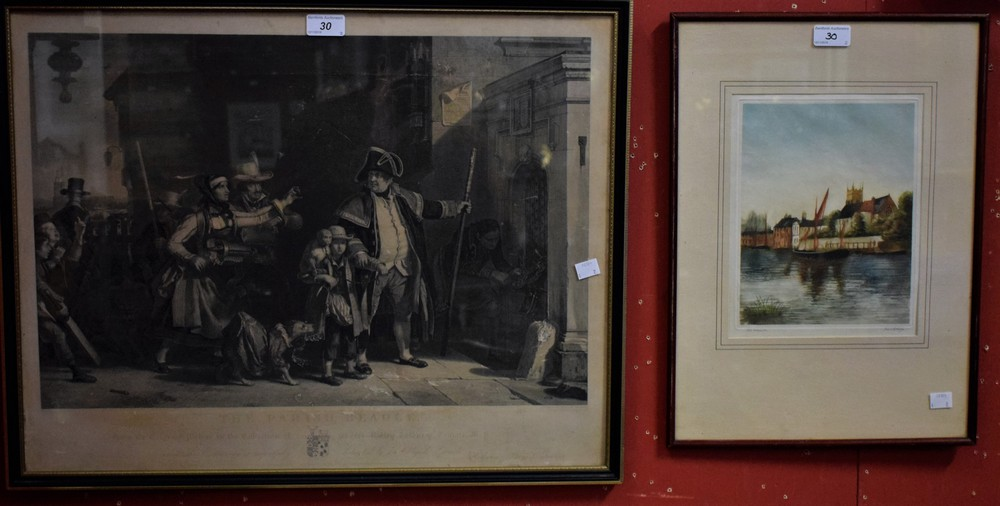 Lot 30 - Abraham Rainbach, by, Daniel Wilkie, after, The Parish Beadle, engraving; James Brown,