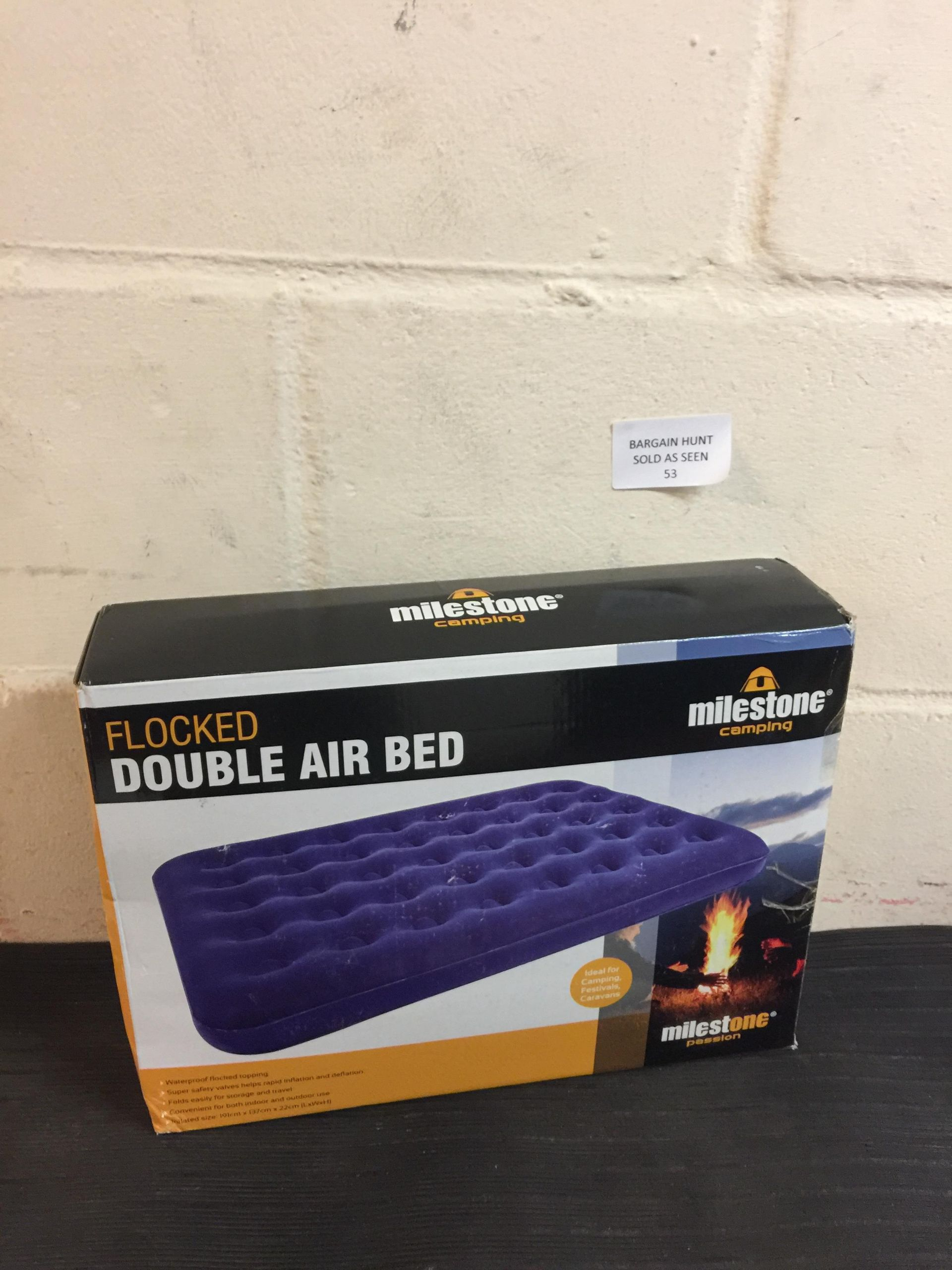 Lot 53 - Milestone Flocked Double Air Bed