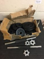 Lot 175 - York Fitness Dumbell and Weights Set