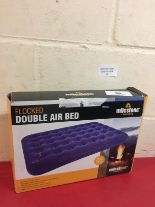 Lot 10 - Milestone Flocked Double Air Bed